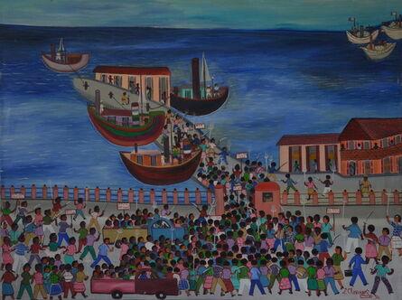 Etienne Chavannes, 'Révolte sur les quais', 1994