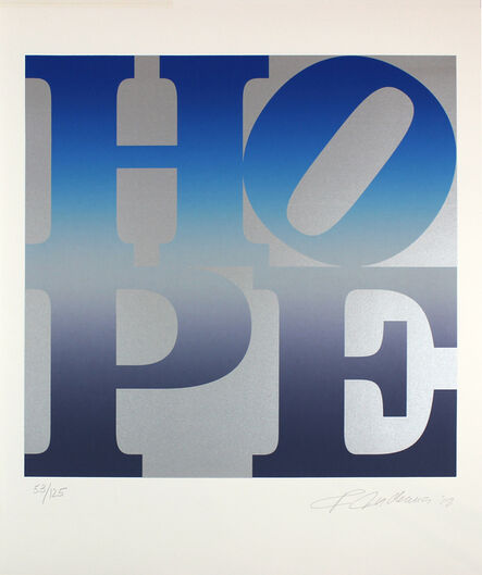 Robert Indiana, 'Hope (Silver and Blue)', 2012