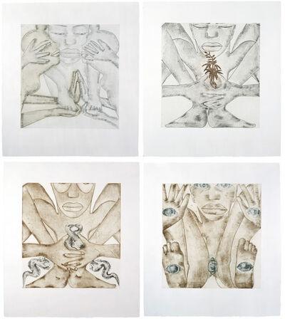 Francesco Clemente, 'Geography (a suite of 4 prints)', 1992