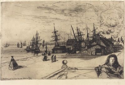 Francis Seymour Haden, 'Yacht Tavern, Erith', 1865