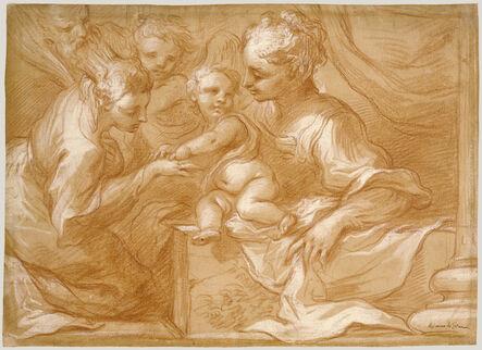 Bartolomeo Biscaino, 'Mystic Marriage of Saint Catherine', 1655