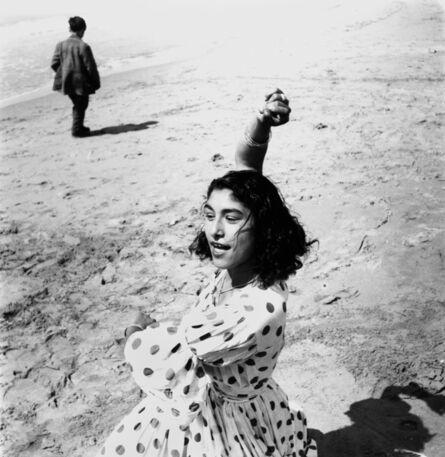 Lucien Clergue, 'Draga en robe à pois', 1957