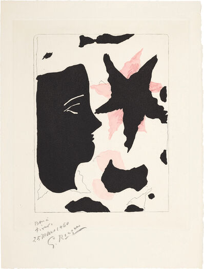 Georges Braque, 'Tête en profil et l'étoile, for Nouvelles sculptures et plaques gravées (Head in Profile and Star, from New Sculptures and Engraved Plaques)', 1960