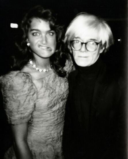 Andy Warhol, 'Andy Warhol, Photograph with Brooke Shields Making a Funny Face, 1985', 1985
