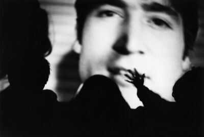 "Yutaka Takanashi, 'The Beatles Film Festival, Marunouchi Shochiku Theatre, Chidyoda-ku, from the series ""Toshi-e""', 1965"