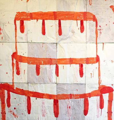 Gary Komarin, 'Cake (Red on Crème) ', 2016