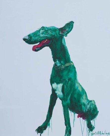 Zhou Chunya 周春芽, 'Green Dog', 2008-2009