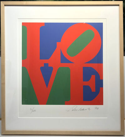 Robert Indiana, 'LOVE, (Red, Purple, Green) from The Book of Love portfolio', 1996