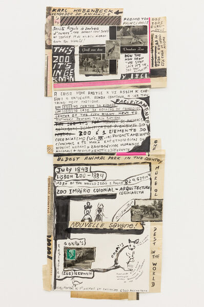 "Carla Filipe, '""Comer papel mastigado - o desejo de compreender o velho continente para cuspir a sua história / Eating chewed paper - the desire to understand the old continent to spit its story"" Untitled 16', 2014"