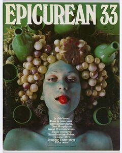 Les Mason, 'Epicurean Magazine Cover Design Number 33', 1971