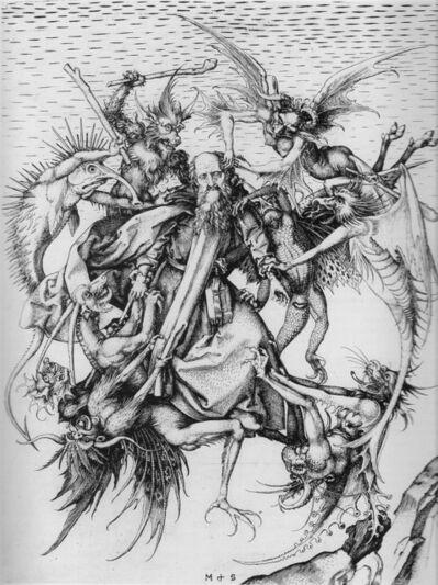 Martin Schongauer, 'Demons Tormenting Saint Anthony', ca. 1480-90