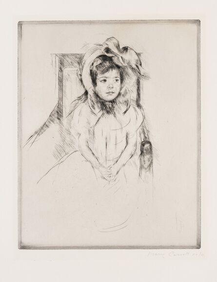 Mary Cassatt, 'Margot Wearing a Large Bonnet (Breeskin 192)', c.1904