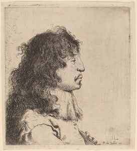 Jan Lievens, 'Bust of a Young Man in Profile, Facing Right', ca. 1631