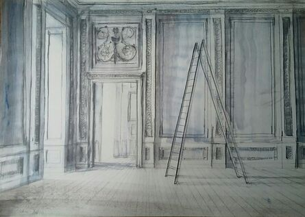Pierre Bergian, 'Ladder in the Museum (Versailles)', 2018