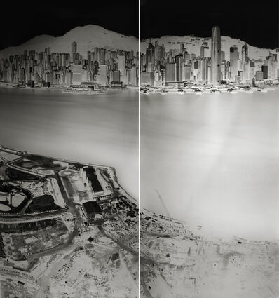 Shi Guorui 史国瑞, 'To see Hong Kong Island from Kowloon 19-20 July 2016 (diptych)', 2016