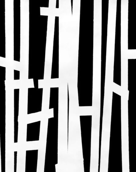 William Klein, 'Thick Vertical Lines on Black, Paris', 1953
