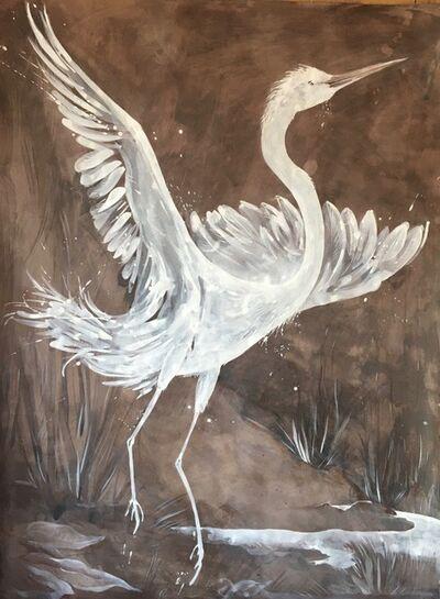 Idoline Duke, 'White Heron', 2020