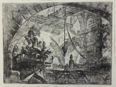 Giovanni Battista Piranesi, 'Prisoners on a Projecting Platform, proof', ca. 1749