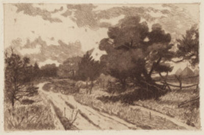 William Henry Shelton, 'A Long Island Road', 1887