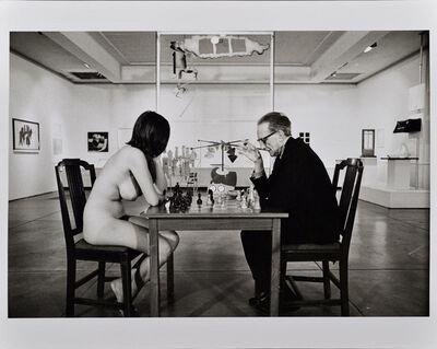 Julian Wasser, 'Duchamp Playing Chess with a Nude (Eve Babitz), Duchamp Retrospective, Pasadena Art Museum', 1963