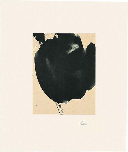 Robert Motherwell, 'Octavio Paz Suite: Nocturne VI', 1988