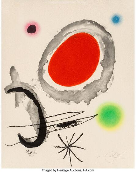 Joan Miró, 'Oiseau entre deux astres', 1967