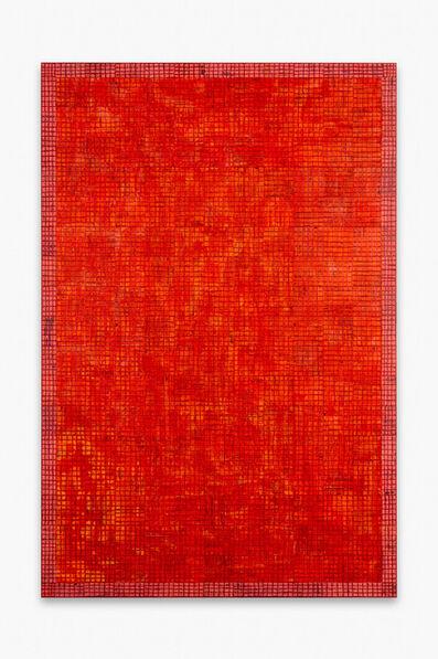 McArthur Binion, 'DNA:Work(Vermillion)', 2020