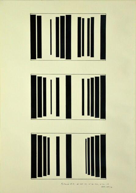 Waldo Balart, 'Mutación #19, del 20 A:28, al 36:41 A, al 32:2 A', 1981