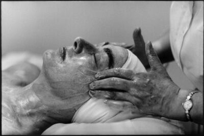 Eve Arnold, 'Joan Crawford having a face massage. ', 1959