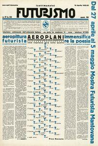 Mino Somenzi & Pino Masnata, 'Futurismo 2, no. 32 (Apr. 16, 1933)', 1933