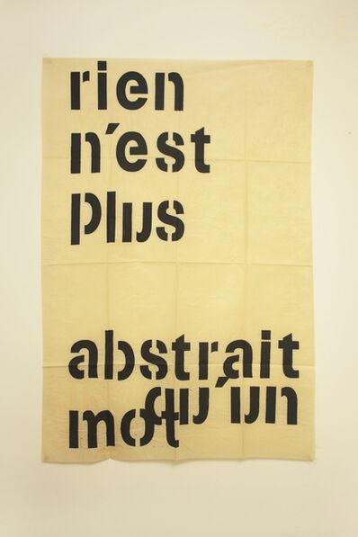 Guillermo Daghero, 'Rien n´est plus abstrait qu´un mot', 2019