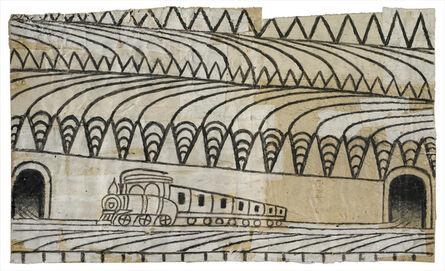 Martín Ramírez, 'Untitled, (Triangle Landscape with Train) ', 1960-1963