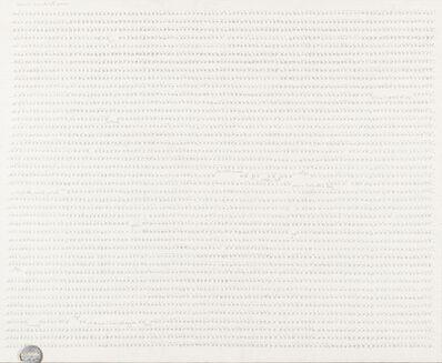 Carlo Alfano, 'Frammenti di un autoritratto anonimo dall'86° secondo al 96° secondo', 1974