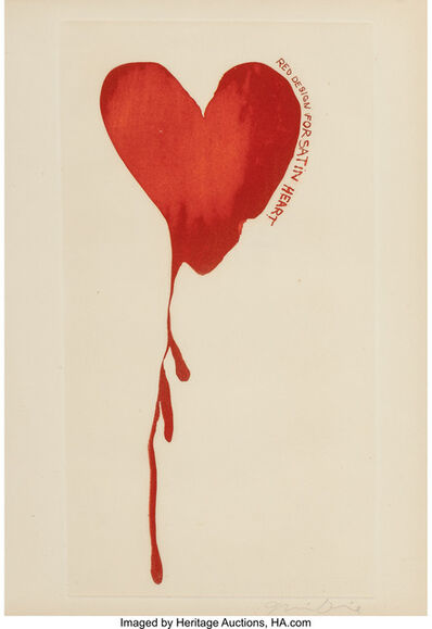 Jim Dine, 'Red Design for Satin Heart', 1968