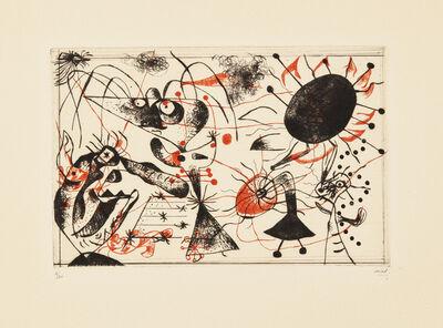 Joan Miró, 'Série noire et rouge (Black and Red Series)', 1938
