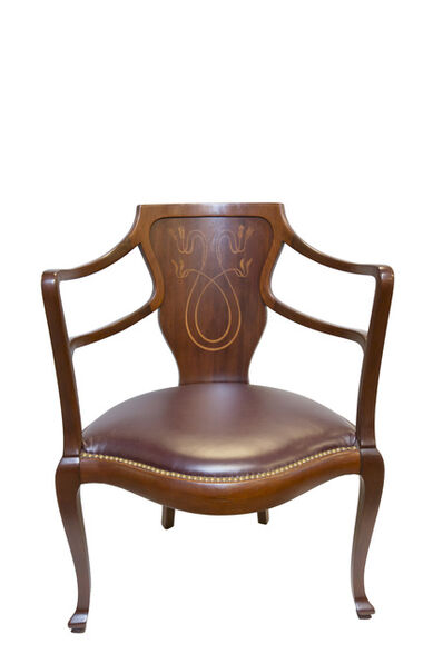 French Art Deco Style, 'Antique 1920's Chair', 1920's
