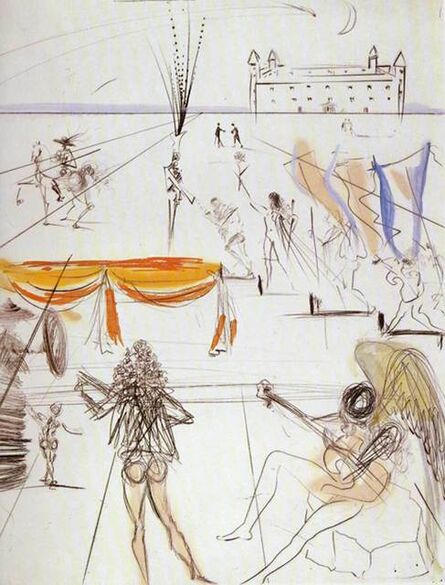 Salvador Dalí, 'Place St.Jacque de Compostelle', 1969/70