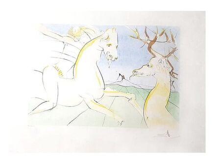 "Salvador Dalí, 'Original Engraving ""The Deer and the Horse"" by Salvador Dali', 1974"