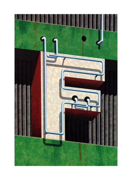 Robert Cottingham, 'An American Alphabet: F', 1997