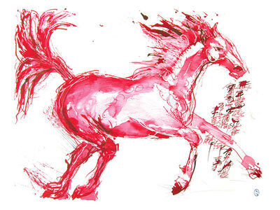 Wang Dalin, 'Red Hare Horse II', 2013