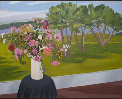 Jane Freilicher, 'Flowers and Pine Trees', 1983