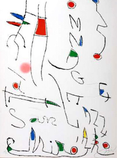 Joan Miró, 'Hommage a San Lazzaro', 1977