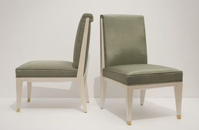 Jacques Quinet, 'Pair of Slipper Chairs', ca. 1960