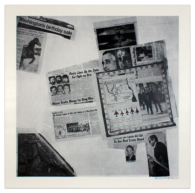 Robert Rauschenberg, 'Features from Currents #57', 1970