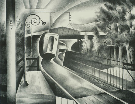 Benton Spruance, 'Approach to the Station', 1932