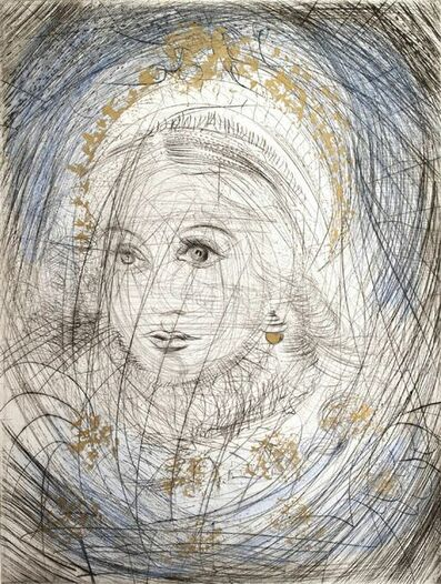 "Salvador Dalí, ' The Night of Walpurgis Faust - Goethe Series: ""Portrait of Marguerite."" ', 1969"