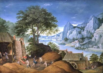 Martin Ryckaert, 'Mosan Landscape with Metal industry', 1610-1630