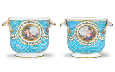 Sèvres Porcelain Manufactory, 'Pair of bottle coolers from a service made for Madame du Barry (seaux à bouteille)', ca. 1770
