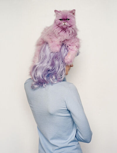 Tim Walker, 'Lisa Ratliffe with pink pastel cat, Eglingham, Northumberland', 2000