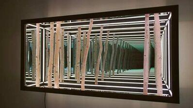 """Anthony James, '60"""" Walnut Frame Birch Wall', 2019"""